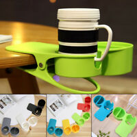 Practical Universal Clip On Desk Table Cup Bottle Drink Holder Non-Slip Grand