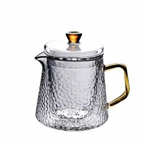 Good Clear Borosilicate Glass Teapot with 304 Stainless Steel Infuser Strainer H