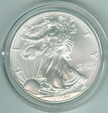 UNCIRCULATED 2007 W BURNISHED SILVER EAGLE MINT BOX COA