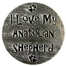 "Plastic Anatolian Shepherd dog plaque mold 7.75"" x 3/4"" thick"