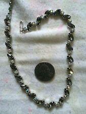 "vintage  SHERMAN '1950 crystal rhinestone 15.5"" necklace"