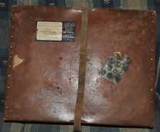 Leather Mailing Box w/ leather strap, Brown ORIGINAL Dated to 1900-1940
