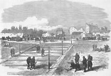 FRANCE. Paris Commune. Communists Battery, Trocadero, antique print, 1871