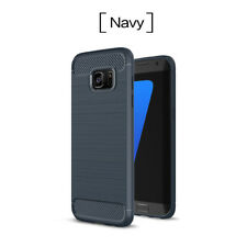 Luxury Carbon Fiber Silicone Soft Anti-Shock Back Case Cover For SumSang Galaxy
