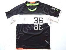 New Ralph Lauren RLX Biking Black Neon Trim Multi Sport Poly Shirt size Slim XL
