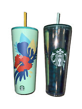 Starbucks NEW Limited Cups Iridescent Rainbow Hibiscus Stainless VHTF RARE GIFT