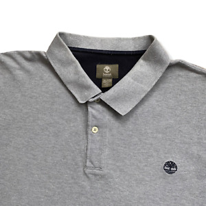 "Vintage TIMBERLAND Polo Shirt | 3XL XXXL | Grey Soft + Stretch BIG 54"" Chest"