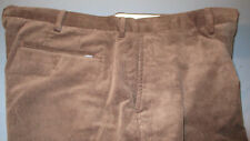 NWOT POLO RALPH LAUREN MENS CORDS CORDUROY FLAT FRONT PANTS BROWN 36X30