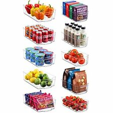 New listing Refrigerator Organizer Bins, 5 Wide and 5 Narrow Stackable Clear Plastic, 10 pcs