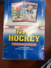 1990 Score NHL Hockey Premier Edition Sealed Wax Pack 36 Packs Per / 15 Per OOP