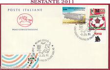 ITALIA FDC CAVALLINO CAMPIONATO ITALIANO DI CALCIO 1991- 92 '90 MILANO U649