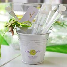 12 x Mini Eimer weiß - für Gastgeschenk Hochzeit Taufe Süßigkeiten Bonbons