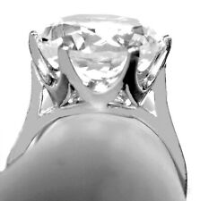 10ct WHITE SAPPHIRE RING SIZE 10.5 925 STERLING SILVER USA MADE