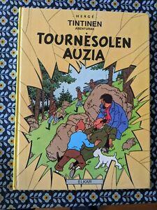Tintin BASQUE VASCO EUSKERA Tournesolen Auzia, Première Edition Elkar, 1989, TBE
