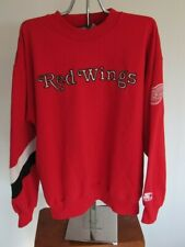 Vintage 1990's Detroit Red Wings STARTER sweatshirt Embroidered L Large NHL