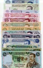 Super Set of 14 Saddam Hussein Iraq Dinars Uncirculated Banknotes Paper Money