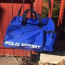 POLO SPORT RALPH LAUREN SPORTS DUFFLE GYM BAG,  Large Sz  Black And Blue Vintage