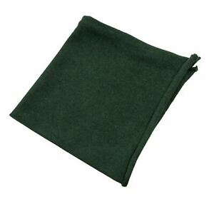 NWOT Kiton Napoli Green Cashmere Woven Hand Rolled Pocket Square