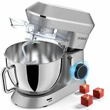 Tilt Head Kitchen Electric Stand Mixer Food Mixers with Dough Hook Silver