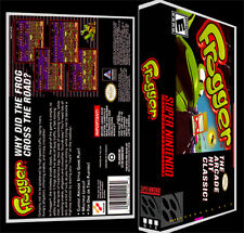 Frogger - SNES Reproduction Art Case/Box No Game.