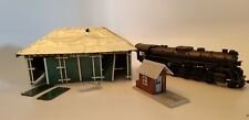 2 Vintage Train Stations - 1 is Tool House #1 & 1 HO Style Locomotive #1982
