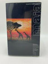 Maia Coats Crafts UK Giraffe Silhouette Counted Cross Stitch Kit NEW