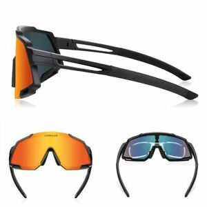 5 Lenses Cycling Sunglasses Polarized MTB Bike Eyewear Outdoor Sport Goggles Set