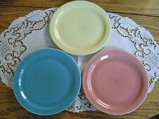 E7590 Vintage Vernonware /'Early California/' Yellow Luncheon Plate