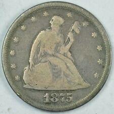 1875 20c Twenty Cent Piece G+ Good Condition