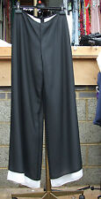 Joseph Ribkoff BNWT UK 10 Exquisite Chiffon Double Layer Trousers Black & White