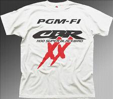 PGM-FI Honda CBR 1100 XX Super blackbird white cotton t-shirt 01183
