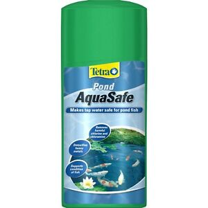 Tetra Pond Aquasafe 500ml Watersafe De-chlorinator Tap Safe Fish Safe