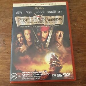Pirates of the Caribbean The Curse of the Black Pearl DVD R4 Like New! FREE POST