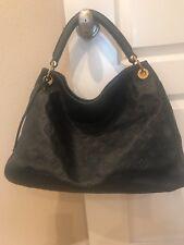 Authentic Louis Vuitton Monogram Artsy Mm Shoulder Bag Dark Navy Leather