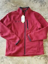 Nwt Mens Free Country Microtech Fleece Jacket Coat Zip Up Dragon Blood Red M