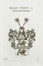 El emblema de 1819 de Schenk Stauffenberg conde grabado tyroff