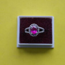 Tourmaline Solitaire with Accents Engagement Fine Rings