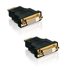 2x Adapter DVI-D Buchse (24+1) auf HDMI Stecker (19 pin) 2 Stück
