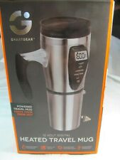 SMARTGEAR 12V DIGITAL HEATED TRAVEL MUG STAINLESS COFFEE CUP PROGRAMMABLE