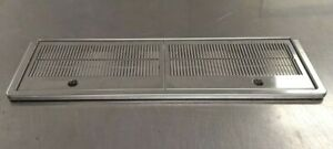 """27 1/4"""" x 8"""" Stainless steel drip tray- beer/espresso"""