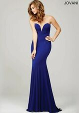 GORGEOUS JOVANI PURPLE STRAPLESS SIMPLE DRESS 32801 SIZE 8 PROM PAGEANT GOWN