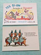 2 Vintage Postcards YES I - AM  & Bonnie Bubbles & Beulah Disneyland Anaheim CA