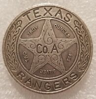 2 oz .999 Silver antiqued Texas Ranger Wagon wheel badge Chuck Norris patina New