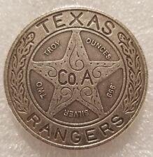 2 oz .999 Silver antiqued Texas Ranger Wagon wheel badge Chuck Norris patina New