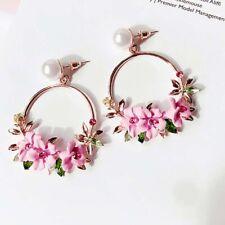 Women Charm Flower Drop Dangle Earrings Jewelry Ear Studs Wedding Jewelry GiftMC