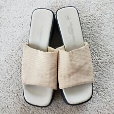 Ivory & Black Montego Bay Vintage 90's Style Slip On Sandals Sz 5
