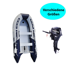 Schlauchboot SET mit Motor Ruderboot versch Grössen mit 15 PS Aussenborder Boot