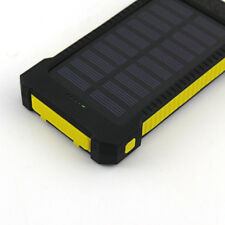 Universal 50000mah Solar Power Bank 2usb LED Backup Battery Charger for Iphone7 Yellow