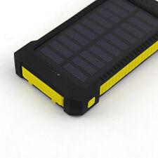 UK Universal 50000mAh Solar Power Bank 2USB LED Battery Charger For Mobile Phone