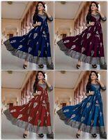 Women Indian Rayon Beautiful Designer Ethnic Anarkali Kurta Kurti Dress new DC
